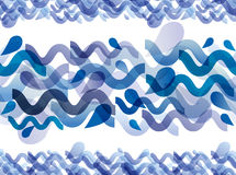 Runny water horizontal seamless pattern. Stock Photos