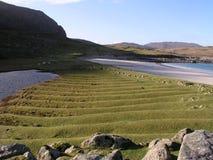 Runrig-Landwirtschaft auf der Insel von Harris, Schottland, Großbritannien Lizenzfreies Stockfoto
