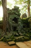 Runs of ancient Cambodian temple. In the jungle Royalty Free Stock Image