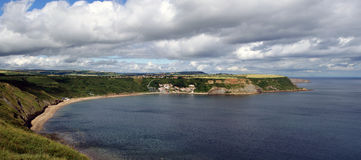 Runswick Bay Panorma Stock Photo