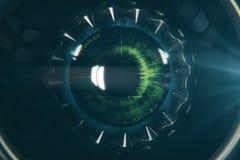 Runt öga för robot` s stock illustrationer