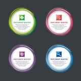 Runt baner med krabbt för infographic, baner eller logo royaltyfri illustrationer