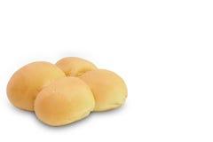 Runt bröd på vit bakgrund royaltyfri bild