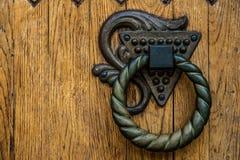 Runt dörrhandtag arkivfoto