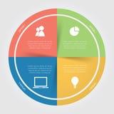 Runt diagram för Infographic färg Royaltyfria Bilder