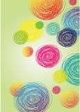 runt färgrikt för abstrakt bakgrund Royaltyfri Fotografi