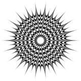 Runt geometriskt motiv, abstrakt mandala, geometrisk form royaltyfri foto