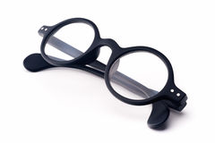 Runt glasögon Arkivfoto