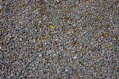 Runt grusstenfoto för bakgrund Industriell textur för liten grå sten Gruscloseup royaltyfri fotografi