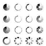 Runt ladda tecken som isoleras p? vit bakgrund stock illustrationer
