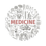 Runt medicinbaner royaltyfri illustrationer