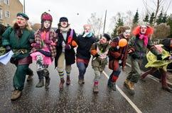 runt om clowning stopp Fotografering för Bildbyråer