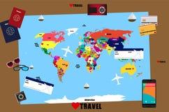 runt om den löpande världen royaltyfri illustrationer