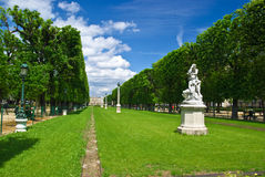 runt om den luxembourg slottparis parken Royaltyfria Foton