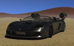 runt om den snabbaste bilen Arkivfoto