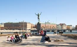 runt om det medeltida museet stockholm för barn Royaltyfria Foton