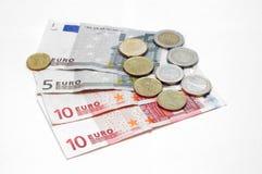 runt om euro gå gör pengarvärlden Royaltyfri Fotografi