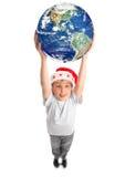 runt om fira julvärlden Royaltyfria Foton