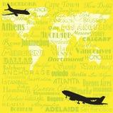 runt om flygvärlden Royaltyfri Bild