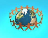 runt om folkvärlden Fotografering för Bildbyråer