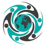 runt om folkvärlden Royaltyfri Foto