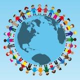 runt om folkvärlden Vektor Illustrationer