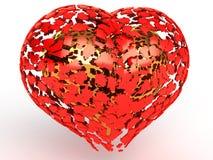 runt om guld- röda hjärtahjärtor för fragment Royaltyfria Foton
