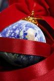 runt om julvärlden royaltyfri bild