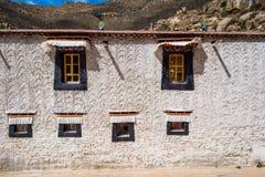 Runt om kloster i Tibet Fotografering för Bildbyråer