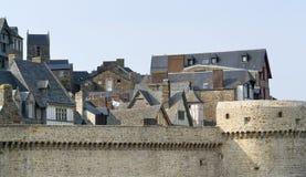 Runt om Mont Saint Michel Abbey Royaltyfri Bild