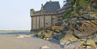 Runt om Mont Saint Michel Abbey Royaltyfria Foton
