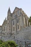 Runt om Mont Saint Michel Abbey Arkivfoton