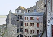 Runt om Mont Saint Michel Abbey Arkivfoto