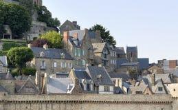 Runt om Mont Saint Michel Abbey Arkivbilder