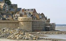 Runt om Mont Saint Michel Abbey Royaltyfri Foto