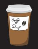 runt om nya bönakaffekoppar shoppa Fotografering för Bildbyråer