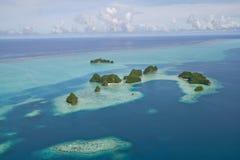 runt om öar små palau Arkivbild