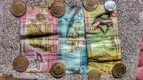 runt om pengarvärlden Arkivbild
