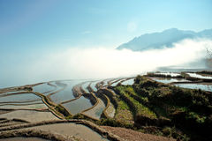runt om porslin clouds yuanyangtitian yunnan Arkivfoton