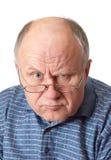 runt om skallig bedra manpensionär royaltyfri bild
