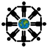 runt om tillsammans världen Arkivfoton