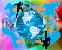 runt om världen Arkivbild