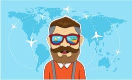 Runt om världen sommar för ferie för t-nivåstrand Royaltyfri Illustrationer