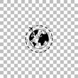 Runt om v?rldssymbolsl?genhet vektor illustrationer