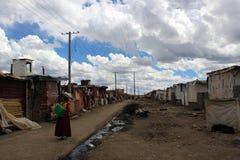 Runt om Yarchenen Gar Yaqen Orgyan Temple i Amdo Tibet, haka Arkivbild