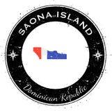 Runt patriotiskt emblem för Saona ö Royaltyfri Fotografi