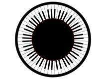 Runt piano Royaltyfria Foton