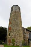 Runt torn av kyrkan för St Mary ` s, Surlingham, Norfolk Arkivbilder