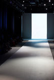 Runway. Empty runway before a fashion show Royalty Free Stock Photography