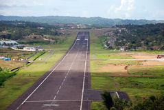 Runway. Scenic runway top and whole view Stock Image